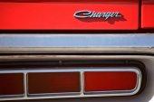 A classic Dodge Charger car in Saskatchewan Canada