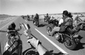 Dirty Dozen motorcycle gang on a weekend trip to the desert outside Phoenix, Arizona