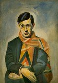 Robert Delaunay France French Painter Portrait of Tristan Tzara 1923