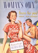 Woman's Own 1949 1940s  UK holidays flirting magazines