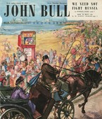 John Bull 1948 1940s UK holidays seaside beaches seaside punch and judy show pony and trap ponies magazines