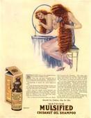 1921 1920s USA brushing mulsified shampoo cocoa nuts oil hair brushing cocoanuts