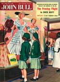 John Bull 1956 1950s UK schoolgirls window shopping womens magazines clothing clothes