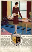 Coats and Clark  1920s UK CC  womens art deco threads womens fabrics