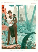 La Vie Parisienne 1931 1930s France Hy Fournier cc honemoons tropical jungles illustrations holidays