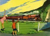 Infant School Illustrations 1950s UK railways trains  Enid Blyton