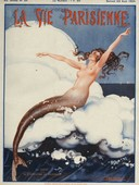 La Vie Parisienne  1924 1920s France Leo Pontan  magazines erotica mermaids seaside