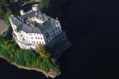 Orlík castle from the plane