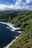 Aerial of Maui, Hawaii coastline.
